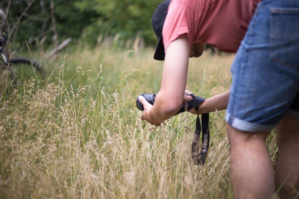 Tristan beim Fotografieren