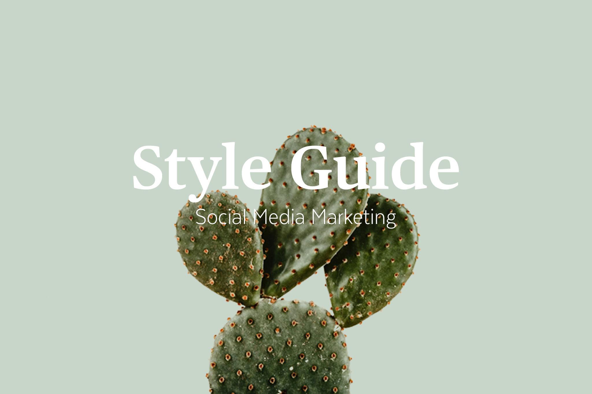 Style Guide - Social Media Marketing
